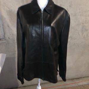 Banana Republic Men Leather Jacket Size Large